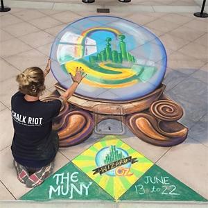 3D Chalk Art image