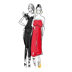 Vivian Shih - Live Fashion Sketch image