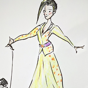 Deb Allen - Fashion Sketch and Caricature image