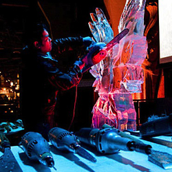 Chainsaw Ice Sculpting image